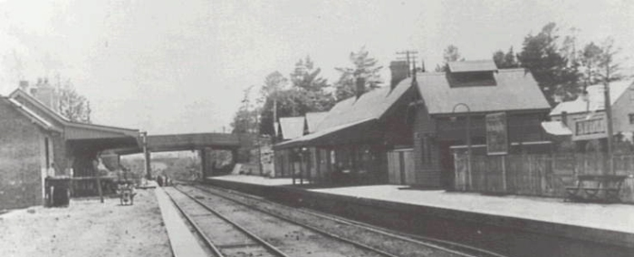 Bulli Railway Station about 1935 when William T. Bousfield was station master. He was killed by an electric train while station master at Sutherland Railway Station in 1940.