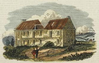 The Parramatta Lunatic Asylum under demolition in 1866. Hugh Kennedy Junior died there, a pauper, in 1859.